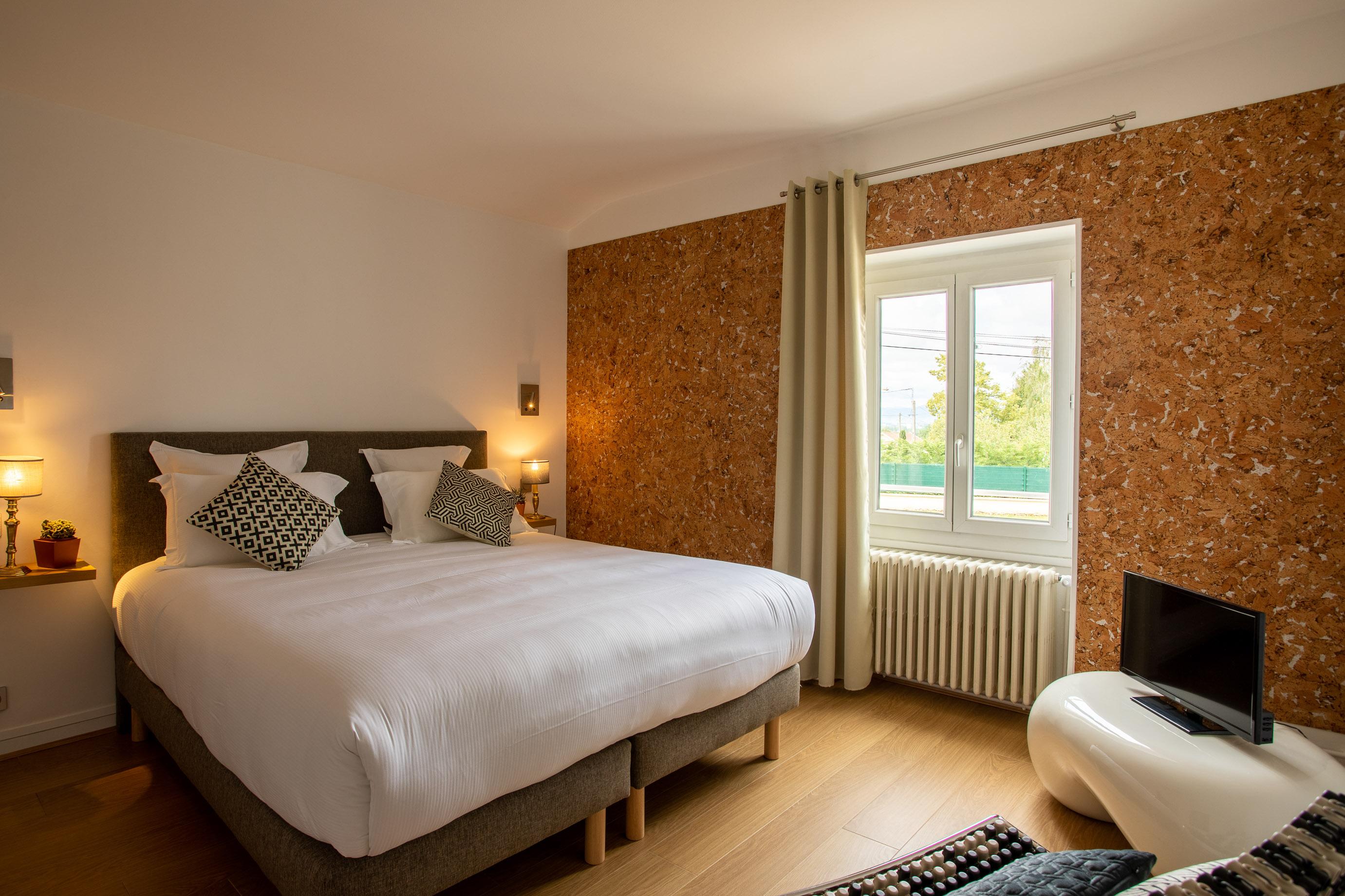 Chambre Bronze offre spéciale business hôtel restaurant La Huchette proche de Mâcon et Lyon